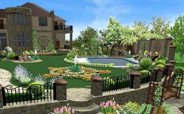 Ландшафтный дизайн в программе «Наш Сад-Рубин версия 10.0»
